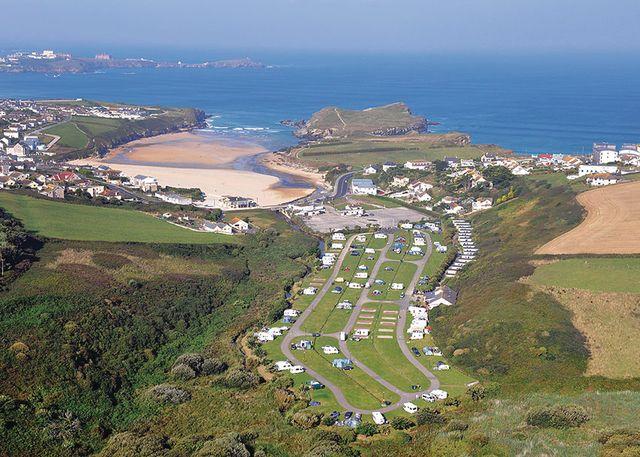 Porth Beach Holiday Park, Newquay,Cornwall,England